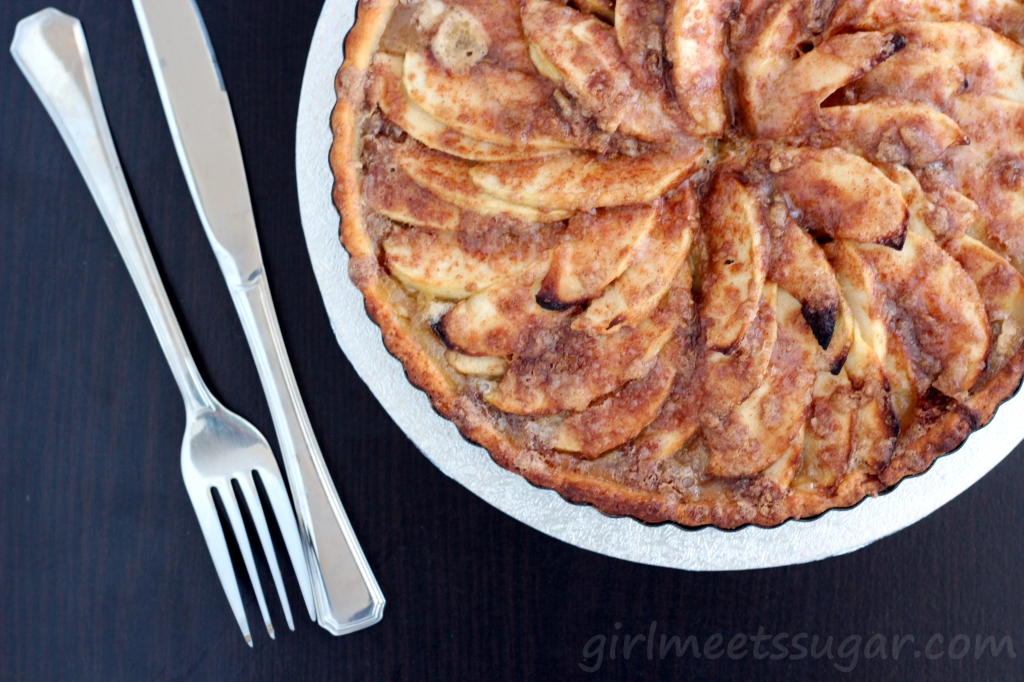 brown butter creamy apple tart